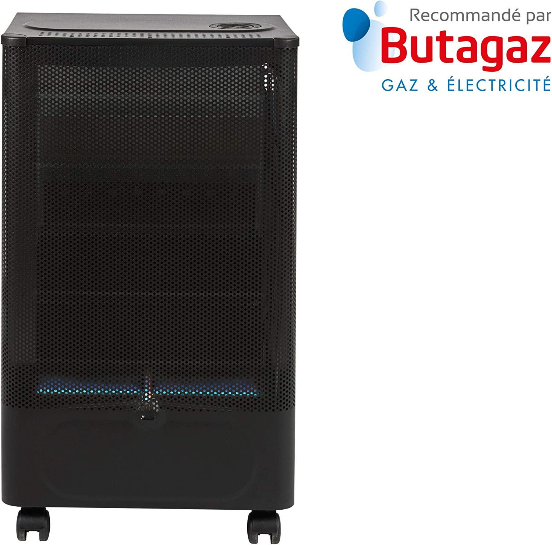 FAVEX 8591600 Praha Blue Flame Calefactor de de Gas Llama Negro/Azul 40 x 29 x 70 cm