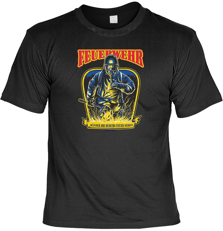 Geschenk Set Feuerwehrmann Feuerwehr Männer die durchs Feuer gehen T-Shirt