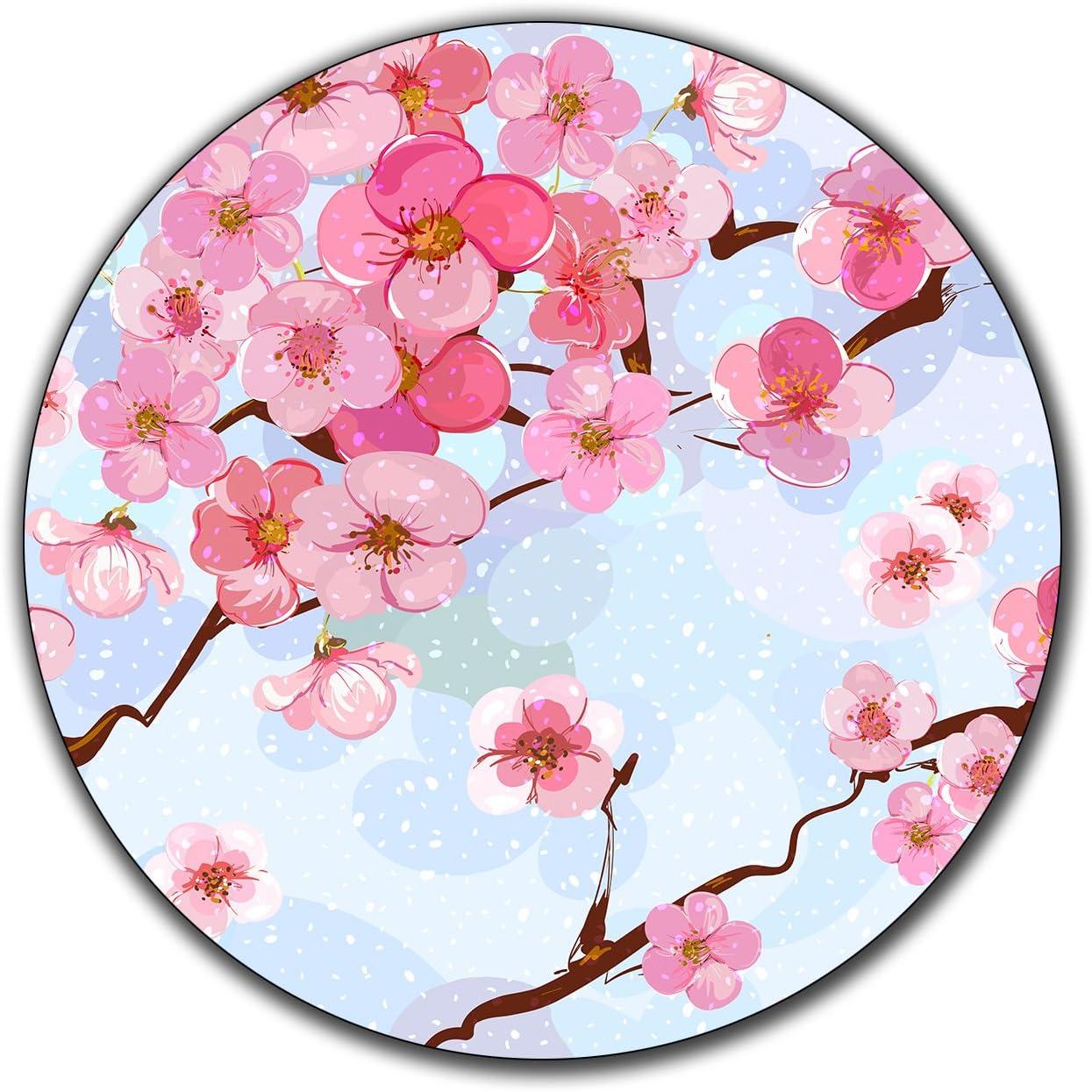 Set off 4-4\u201d Cherry Blossom Glitter Resin Coasters