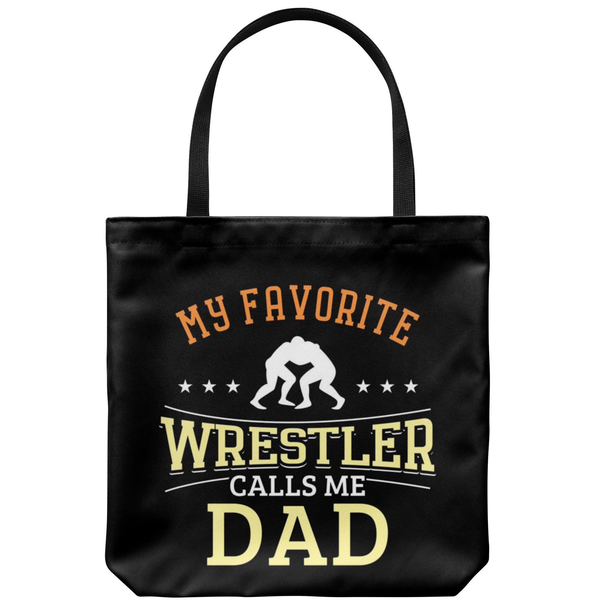 Wrestling Dad Canvas Tote Bag Funny Father's Day Wrestler Gifts Lover - Favorite