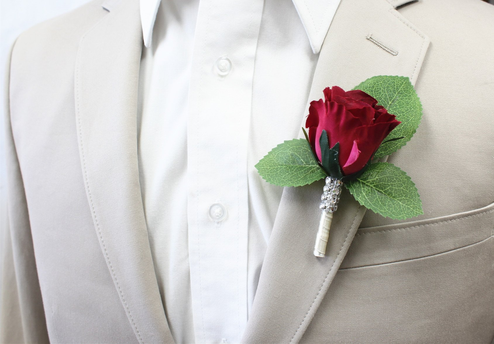 Angel-Isabella-Boutonniere-Nice-Hand-Crafted-Rosebud-Keepsake-Artificial-Flower-Pearl-Headed-Pin-Included