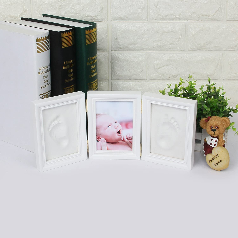 Regalos de Recuerdo Impresi/ón de Huellas de Mano y Pie Fotos y Recuerdos para Bebes #1 CHSEEO Set de Marco de Fotos y Huellas de Beb/é para Ni/ño y Ni/ña