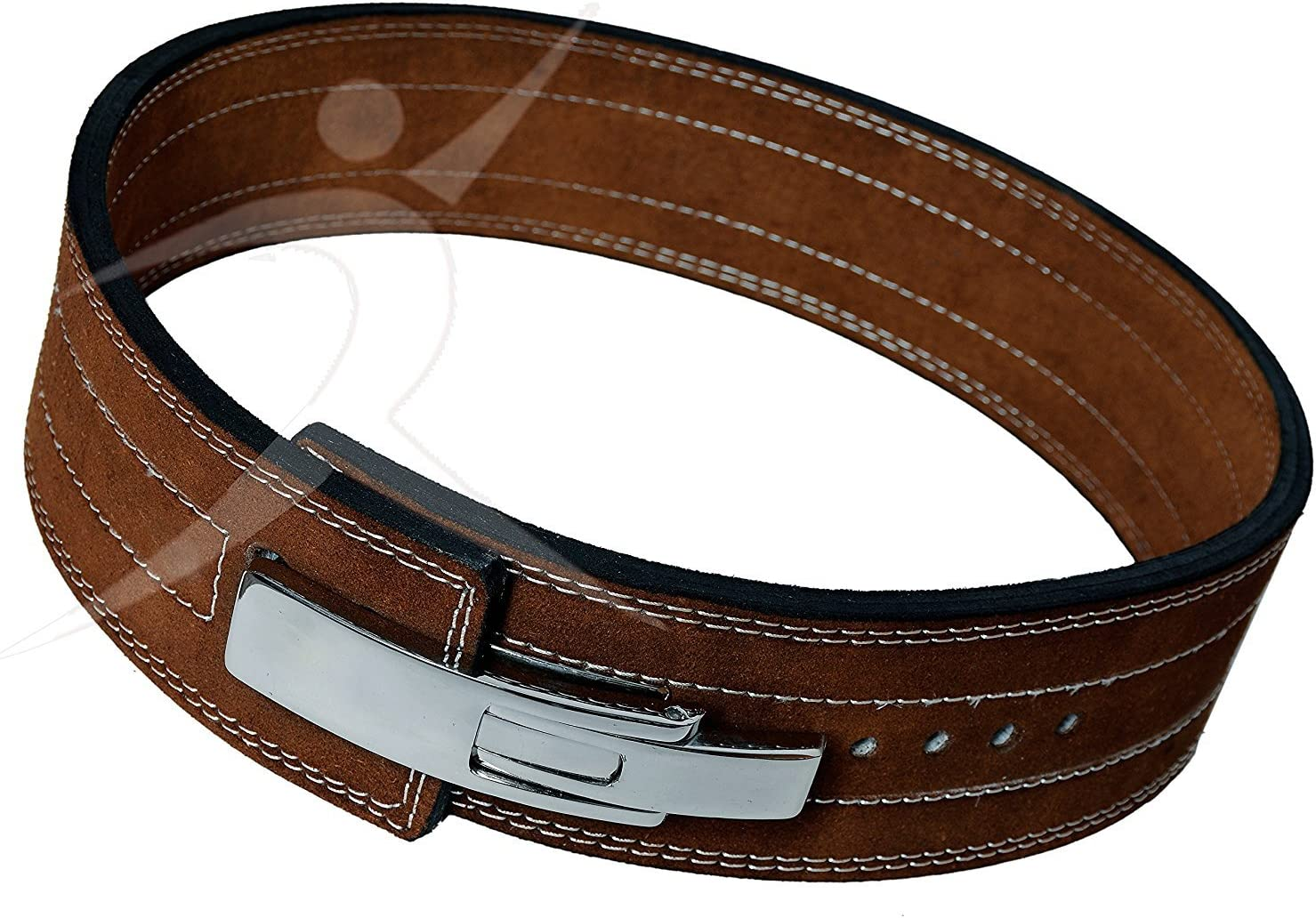 ARD CHAMPS™ Weight Lifting Leather Belt Back Support Gym with heavy chain New