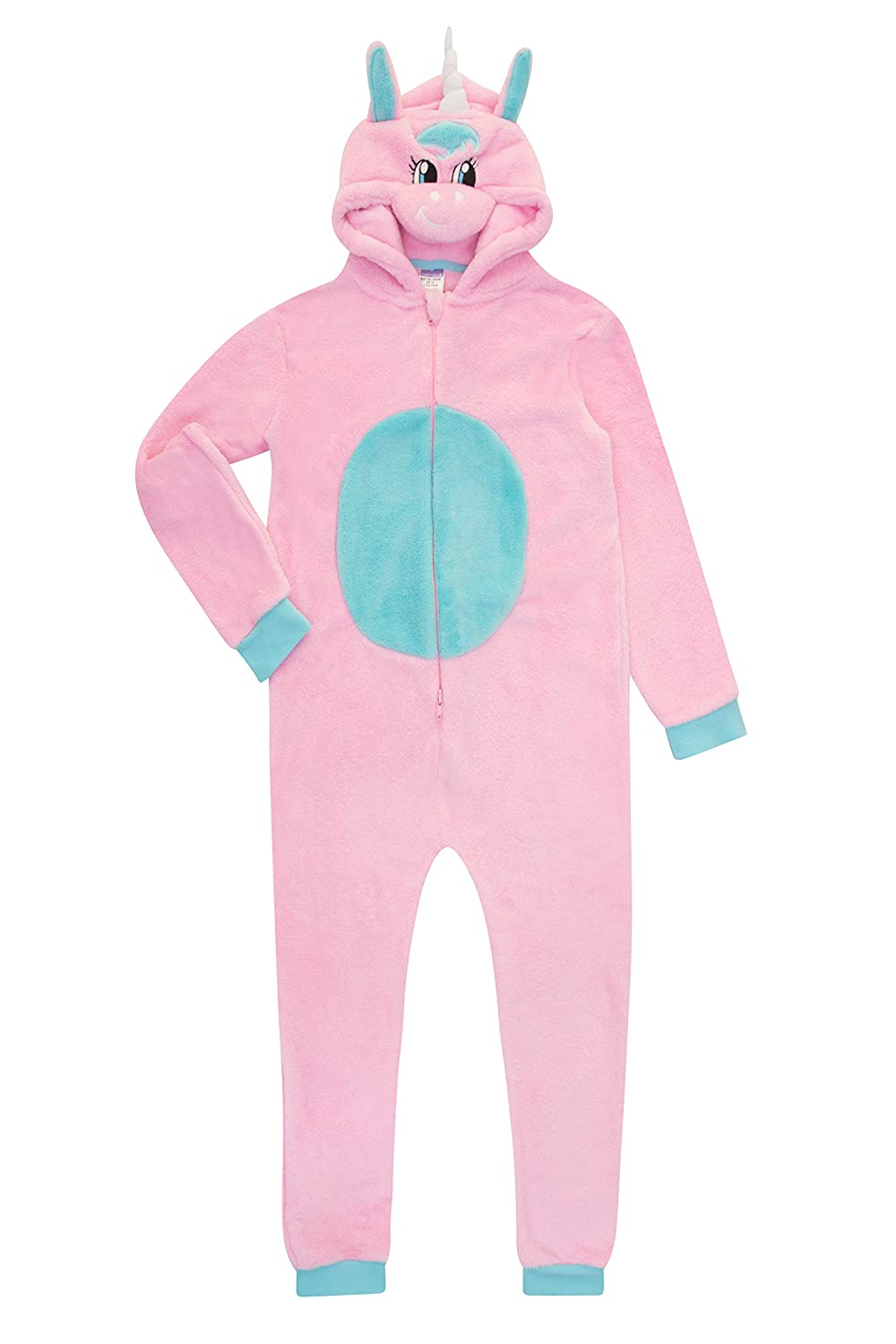 Super Cool Unicorn All in One Romper Sleepsuit 7 to 13 Years Pink