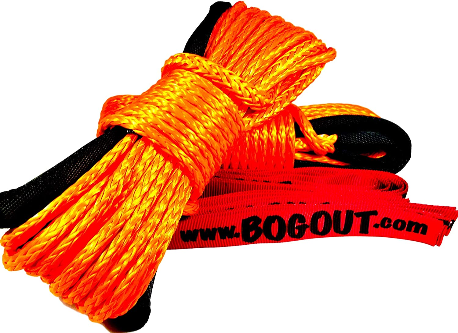 50ft x 0.25in Synthetic Extension Rope for Vehicle Recovery Gear and Offroad Recovery BOGOUT Super Rope Twin Pack 2