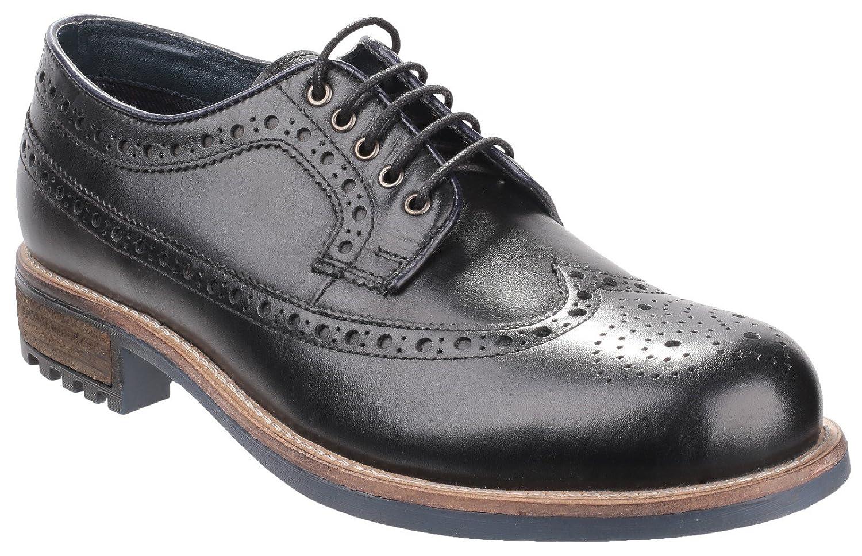 Cotswold Hombre Cotswold Poplar Brogue Zapatos Calzado Casual Zapatillas 9|Black