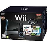 "Nintendo Wii ""Mario Kart Pak"" - Konsole inkl. Wii Sports, Mario Kart Wii, Wii Lenkrad + Remote Plus Controller, schwarz"