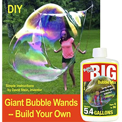BUBBLETHING Giant Bubble Wands --Build Your Own, and Bubble Big As Whales. (See Our Videos.): Toys & Games