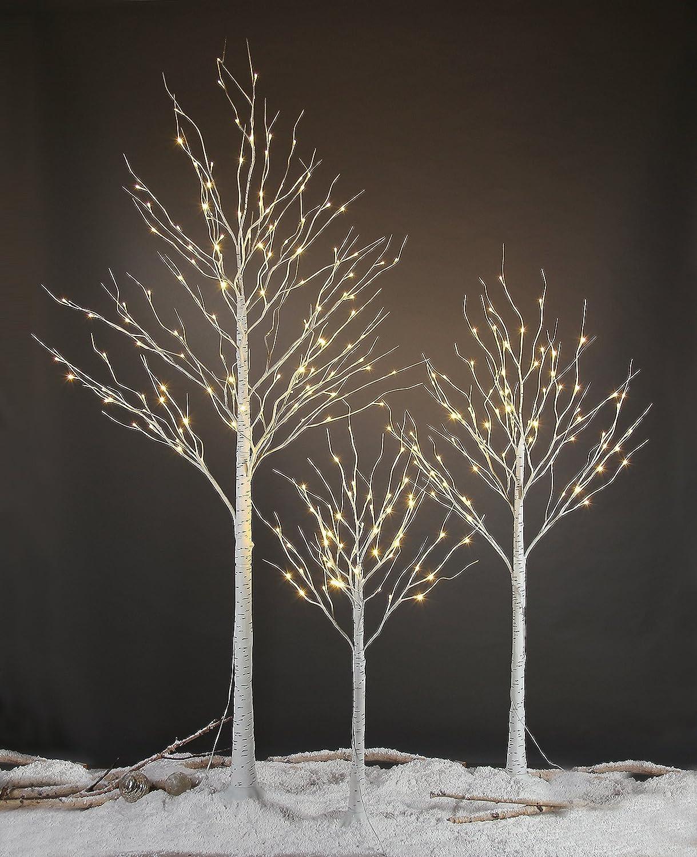 Amazon lightshare 132l led birch tree 8 feet home kitchen aloadofball Images