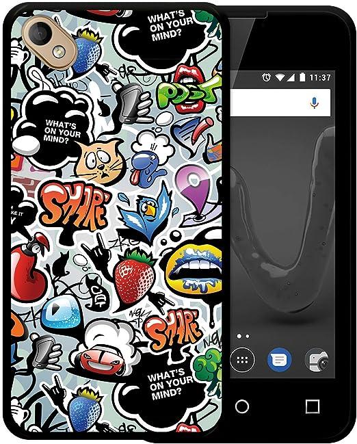 WoowCase Funda para Wiko Sunny 2 Plus, [Wiko Sunny 2 Plus ] Silicona Gel Flexible Grafiti de Colores 2, Carcasa Case TPU Silicona: Amazon.es: Electrónica
