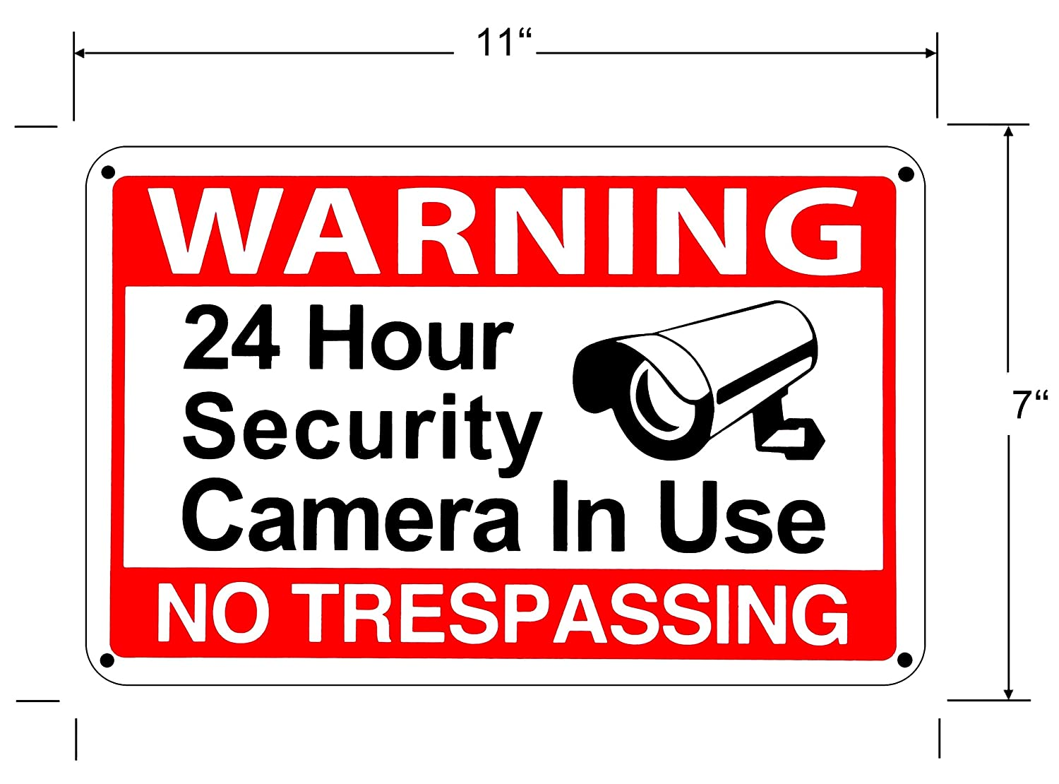 graphic regarding Video Surveillance Signs Printable referred to as 24 Hour Movie Surveillance Caution CCTV Indication No Tresping Stability indications