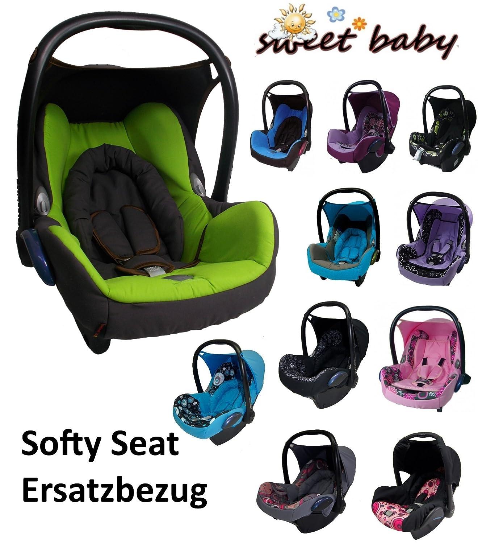 Sweet Baby ** SOFTY PROTECT CabrioFIX ** Kuschelig weicher und dick gepolsterter ERSATZBEZUG fü r Maxi Cosi CabrioFix ( Braun / Limette )