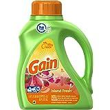 Gain Liquid Detergent with Fresh Lock, Island, 50 Ounce