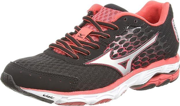 Mizuno Wave Inspire 11 (W) - Zapatillas running para mujer, Negro (black/silver/cayenne), 44: Amazon.es: Zapatos y complementos