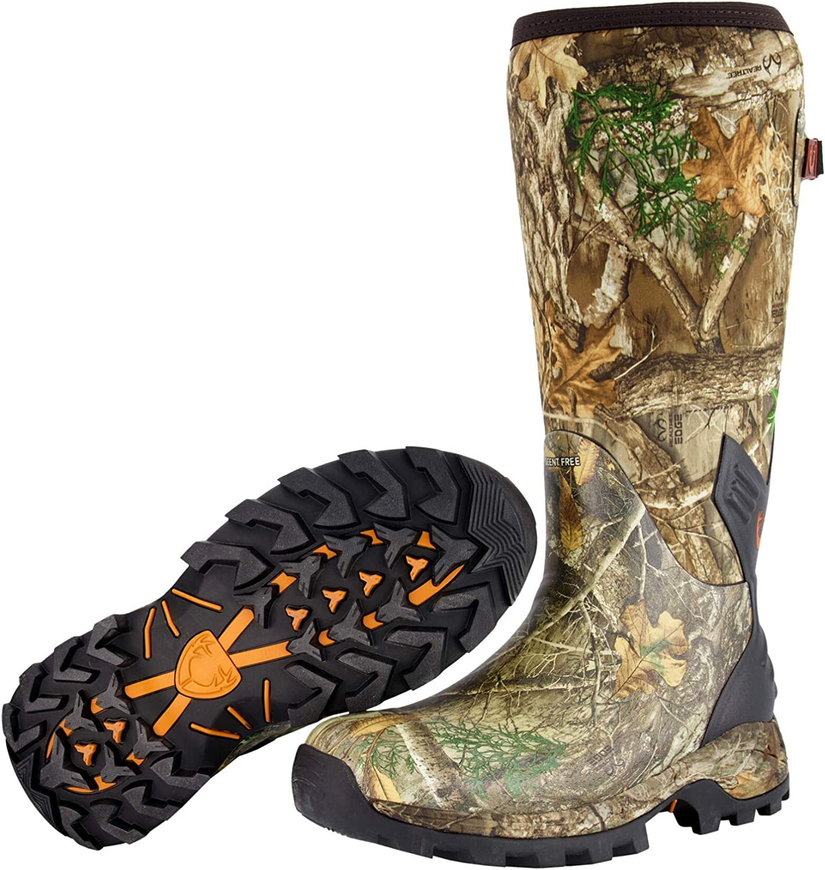 HUNTSHIELD Men's Neoprene Muck Boot | Insulated Waterproof Rubber Hunting Boot | Camouflage