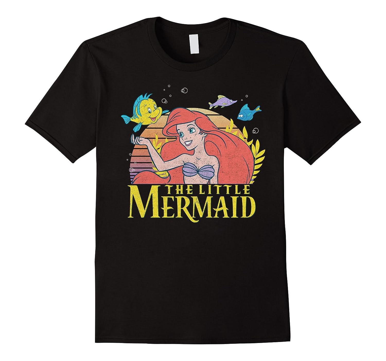 625c68be5 Disney Little Mermaid Ariel Flounder Logo Graphic T-Shirt-PL – Polozatee
