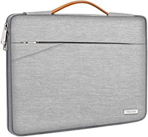 "TECOOL Laptop Sleeve Case with Handle & Front Pockets for Lenovo 15.6-inch IdeaPad 3/Flex 5/Yoga C740/ThinkPad E595 E15, HP 15 FHD/Pavilion/Envy x360 15.6"", Acer Aspire 5/ASUS VivoBook 15, Grey"