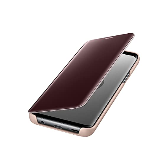 finest selection 2393b 66ce0 Official Genuine Samsung Clear View Cover Case for Samsung Galaxy S9+ (Gold)