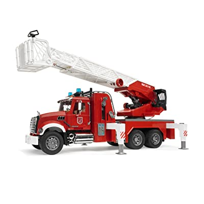 Bruder 02821 Mack Granite Fire Engine Truck w/ Working Water Pump, Lights & Engine Sounds: Toys & Games