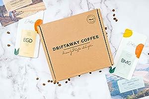Driftaway Coffee - Gourmet Coffee Sampler, Whole Beans , Coffee gifts, Fresh, Single Origin Coffee - 4 Pounds