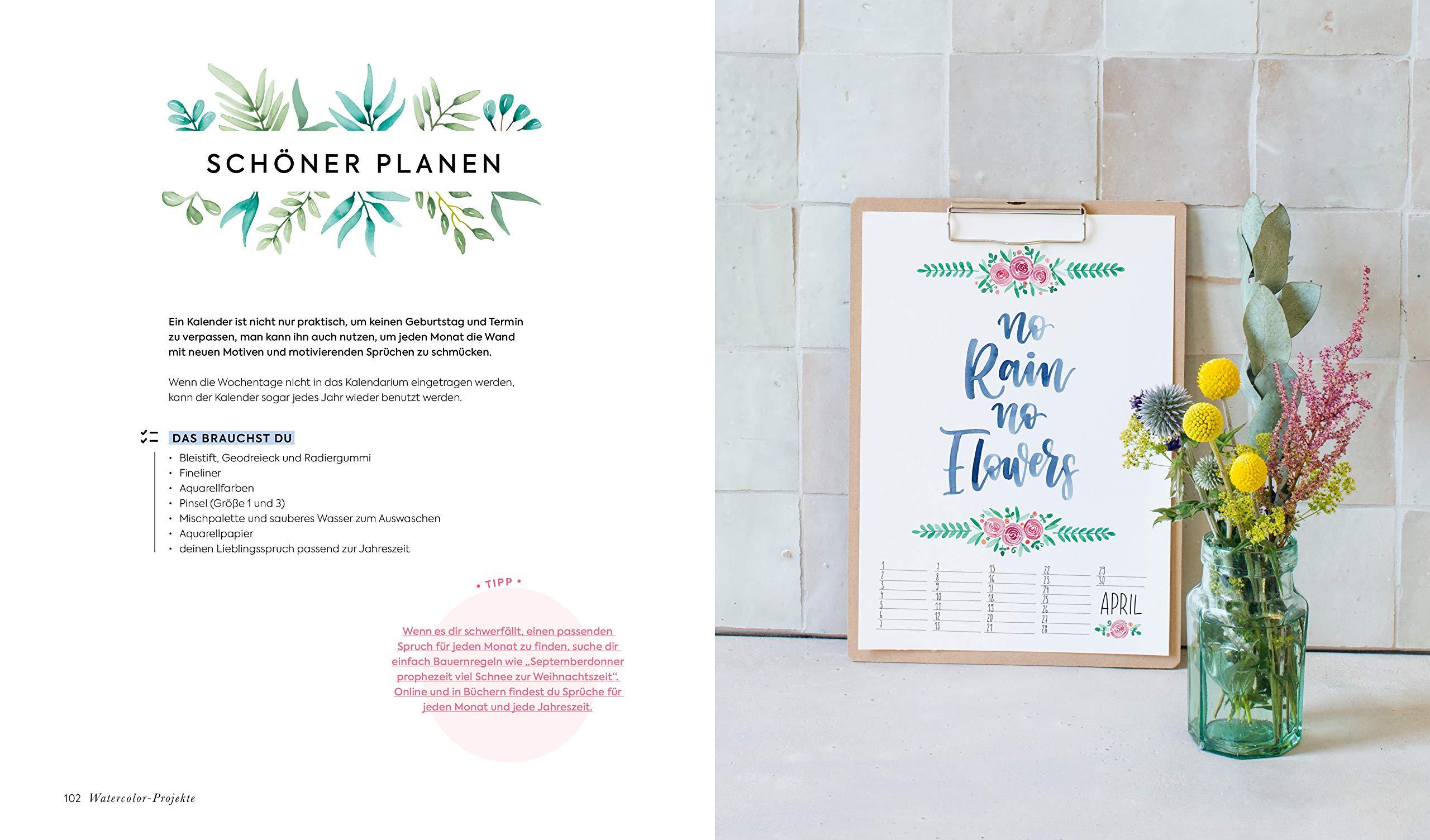Handlettering Alphabete Watercolor Feine Buchstaben Mit Pinsel Und