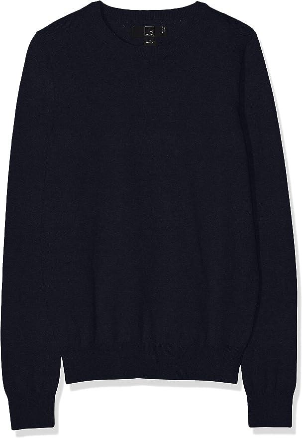 TALLA 38. Marca Amazon - MERAKI Jersey de Algodón Mujer Cuello Redondo