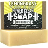 Organic Bar Soap for Athletes with Essential Oil of Lemongrass and Patchouli | Antibacterial, Antifungal for All Skin Types | 100% All Natural, Non GMO, SLS & Chemical Free | 4 oz