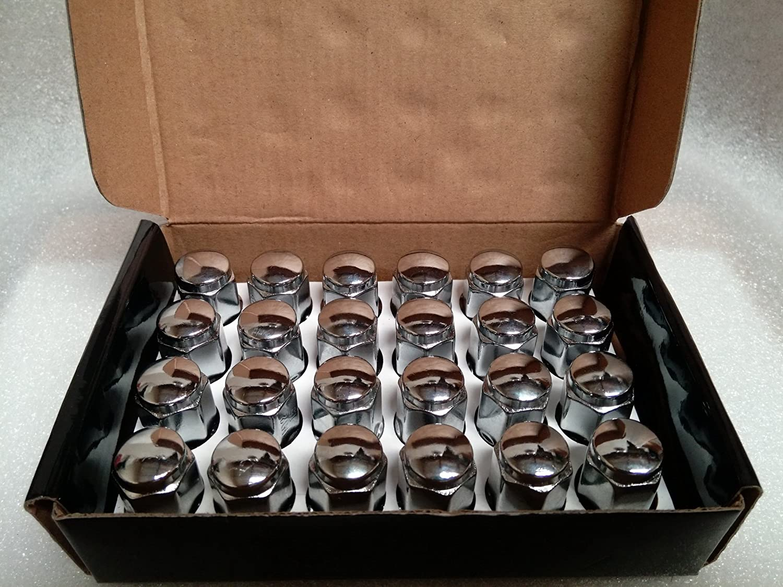 1.4 Tall Pack of 24 Lugnuts AccuWheel Automotive 12mm x 1.5 Thread Size AccuWheel LNA-12150C6 Chrome Bulge Acorn Wheel Lug Nuts