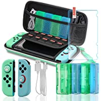 Switch Accessories Bundle, Accessories Kit for Nintendo Switch, Switch Carry Case, Screen Protector, Joy-Con Covers, 4…