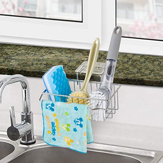 New Design Specially-made Kitchen Sink Sponge Holder Cleaning Cloth Holder  Suitable for Sink and Windowsill, Please Make Sure Your Size Fits Before ...