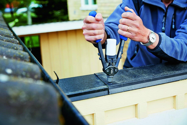 Rapid Blindnietzange RP100 Press Less f/ür ALU und Edelstahlniete von 3,2-4,8 mm Leistungsstark Profi