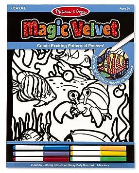 melissa doug magic velvet pattern reveal posters sea life - Velvet Coloring Book