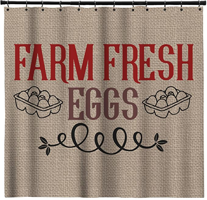 Amazon.com: RNK Shops Farm Quotes Extra Long Shower Curtain - 70