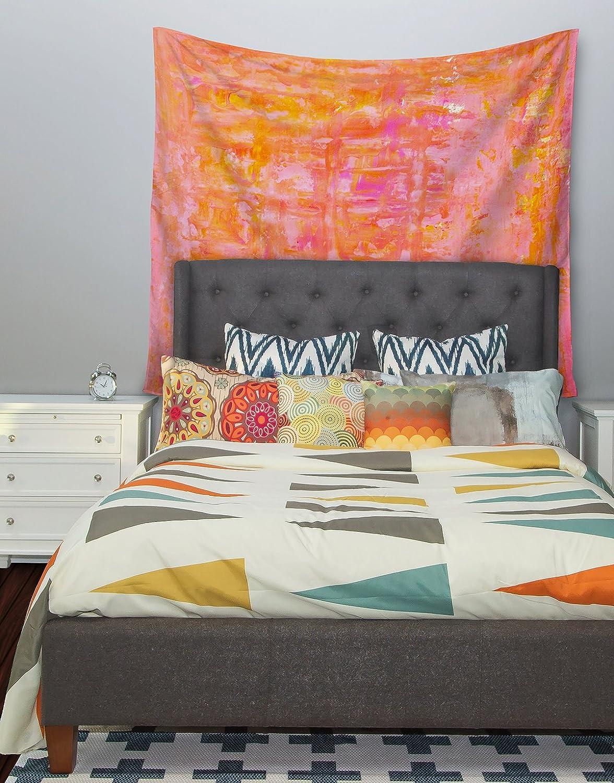 Kess InHouse CarolLynn TICE Wiggle Orange Wall Tapestry 51 X 60