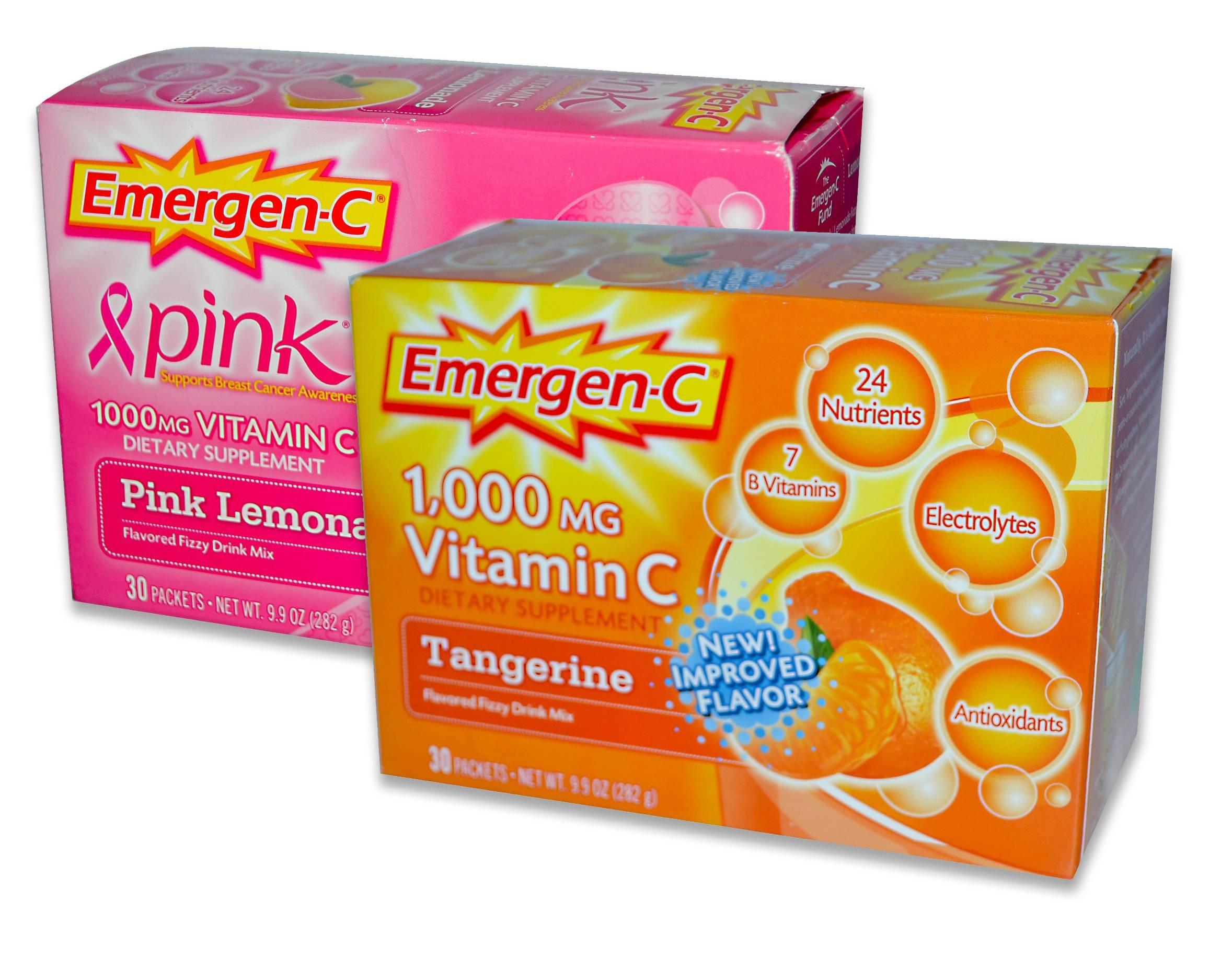 EmergenC, Pink Lemonaide/Trangerine, 30 Packets (Pack of 2)