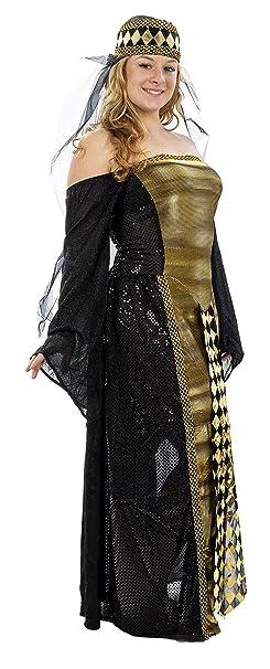 c024bdfbf914f Amazon.com: Adult Renaissance Venetian Sorceress Costume - Adult, one size:  Clothing