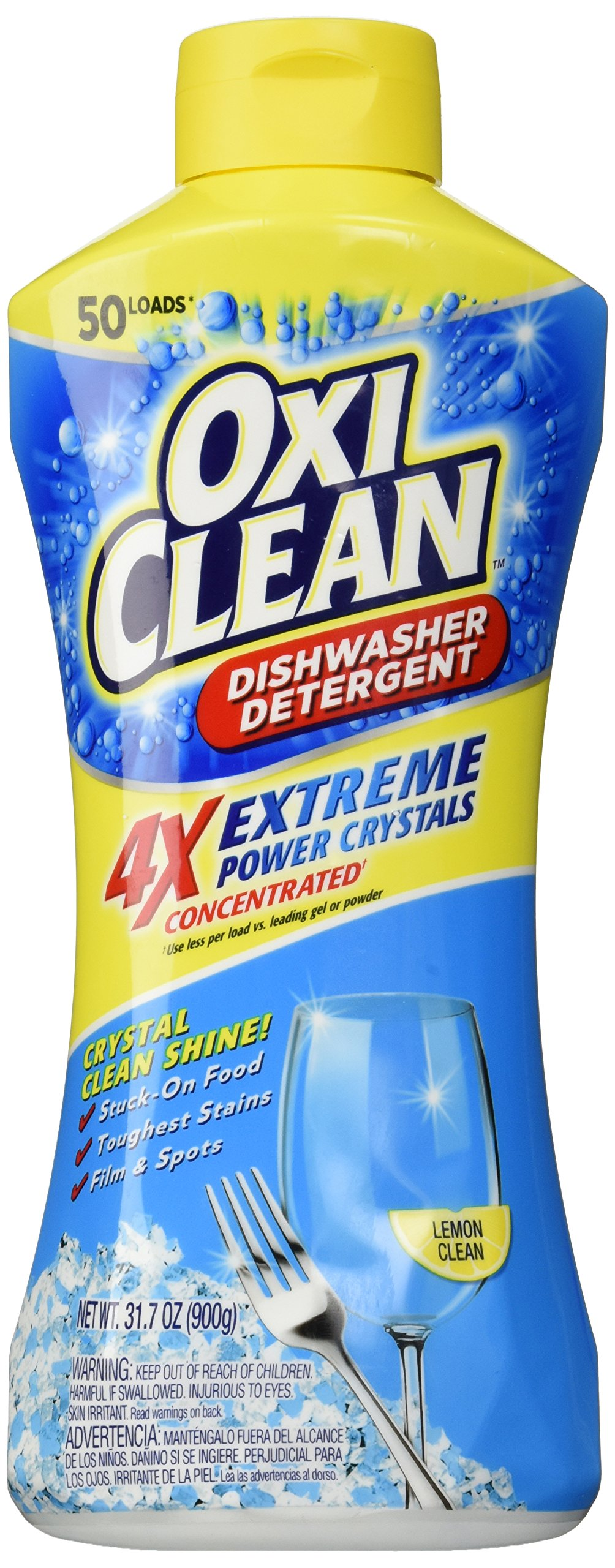 OxiClean Dishwasher Detergent, Lemon Clean, 31.7 Oz by OxiClean (Image #1)
