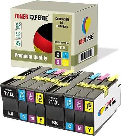 Pack de 8 XL TONER EXPERTE® Compatibles con HP 711XL 711 XL Cartuchos de Tinta para HP DesignJet T120, T520 (2 Negro, 2 Cian, 2 Magenta, 2 Negro): Amazon.es: Electrónica
