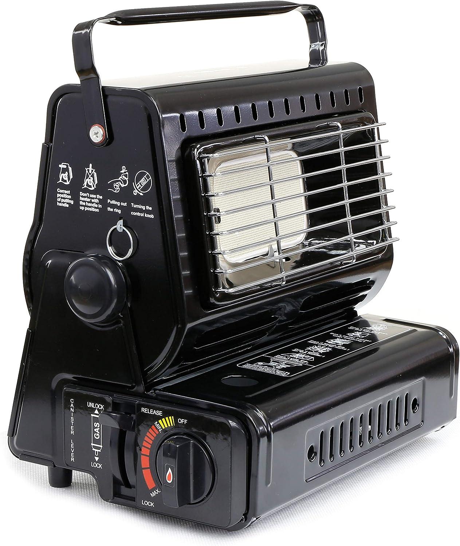 NJ - Calefactor de gas portátil compacto para caravana al aire libre, para pesca de butano, 1,3 kW