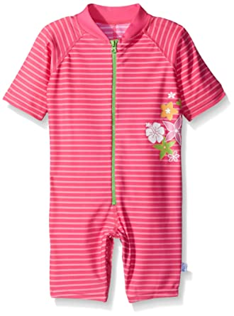 19d530b3 Amazon.com: One-Piece Sunsuit by Iplay - Pink - 6 Mths: Infant And Toddler  Sun Protective Swimwear: Clothing