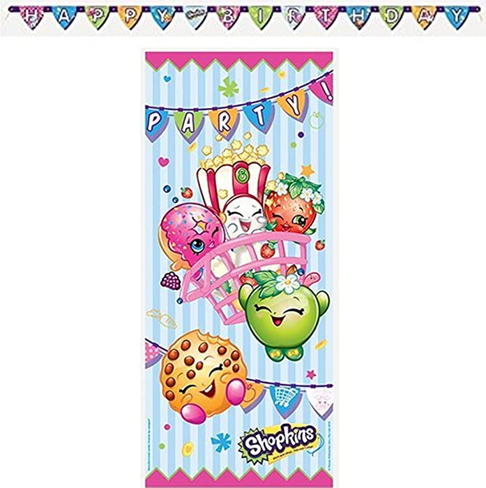 Shopkins Birthday Party Decorating Bundle ~Happy Birthday Banners and Door Poster.
