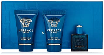 Versace Eros 3-Piece MINI Travel Gift Set: EDT + Shower Gel + ...
