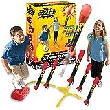 Stomp Rocket The Original X-Treme Rocket Launcher, 6 Rockets and Air Rocket Launcher - Outdoor Rocket STEM Gift for Boys and
