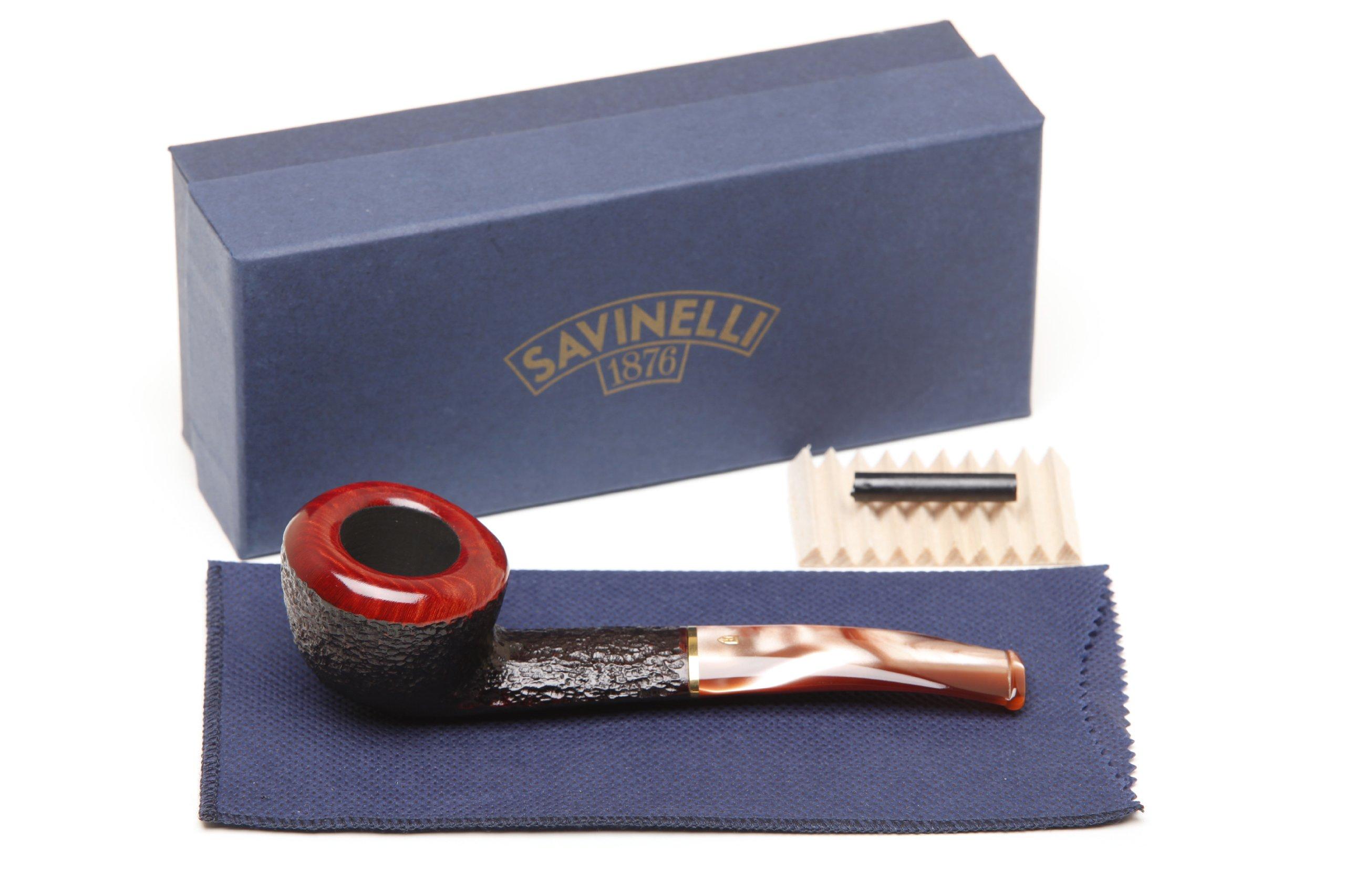 Savinelli Roma Rustic 316 KS Lucite Stem Tobacco Pipe