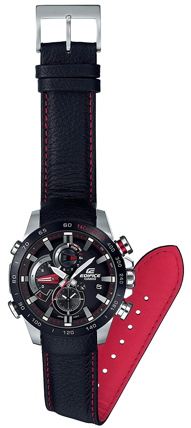 Amazon.com: CASIO EDIFICE RACE LAP CHRONOGRAPH EQB-800BL-1AJF MENS JAPAN IMPORT: Watches