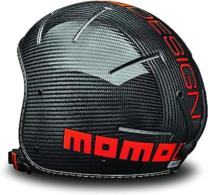 XS//S MOMO Design Venom18 Casco Sci Unisex Carbonio Lucido Adulto 54-56 cm