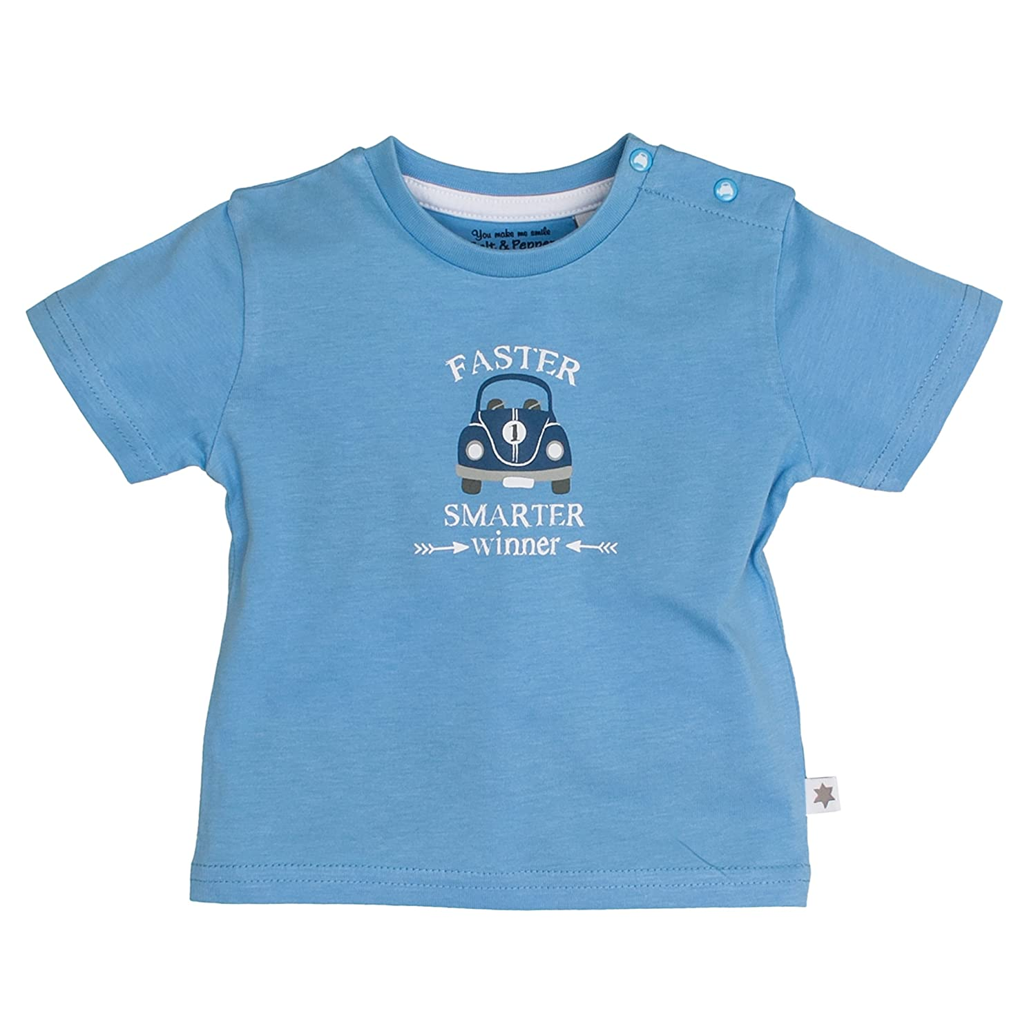 SALT AND PEPPER Baby-Jungen T-Shirt Nb Racer Print 73212105