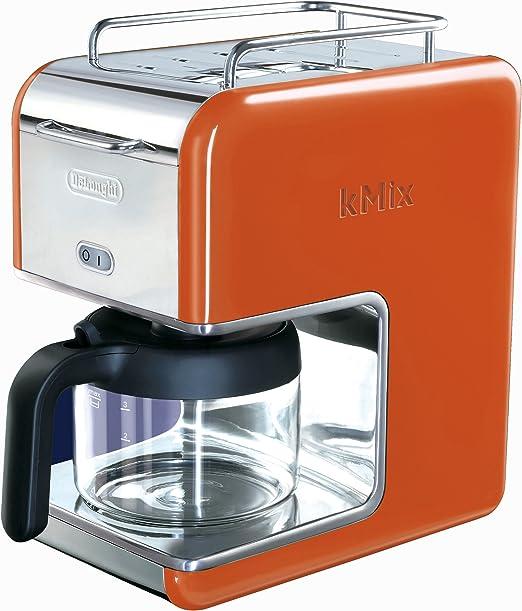 DeLonghi Kmix goteo cafetera eléctrica 5-Cup naranja: Amazon.es: Hogar