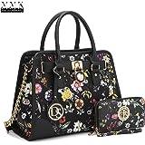 MMK collection Fashion Designer Women Satchel Top handle Handbag with Free wallet set for Women