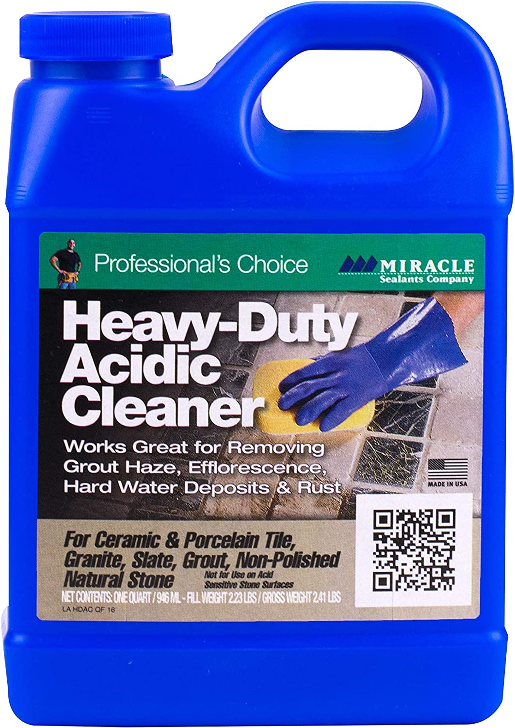 Miracle Sealants MHDCQT6 Miracle Heavy-Duty Acid Substitute Cleaner